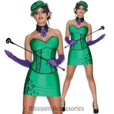halloween costumes the riddler cl328 the riddler womens costume batman super villain halloween