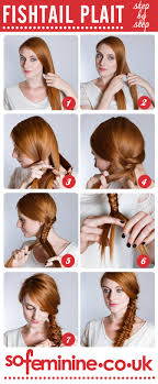 hair braiding styles step by step how to do a fishtail plait step by step fishtail braid sofeminine