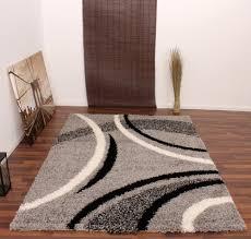shaggy rug patterned black silver cream shag rugs