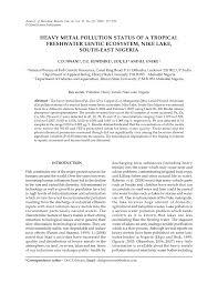 bureau ude g technique harnessing aquatic physicochemical pdf available