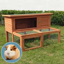 Pet Hutch Orchard Extended Wooden Guinea Pig Hutch And Run Buy Animal