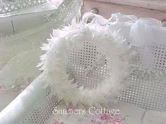 shabby chic white feather wreath wreaths u0026 door hangings