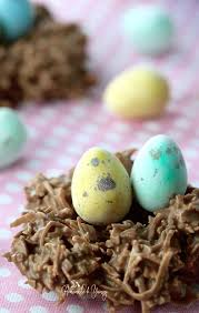 coconut easter eggs easy no bake chocolate coconut nests