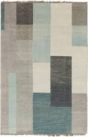 cypress collection 100 wool area rug in dove grey teal and