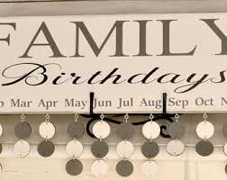 birthday board family birthday board etsy