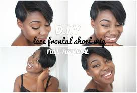 how to make a lace frontal wig short hairstyle diy youtube