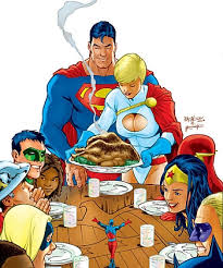 happy thanksgiving from superman and the justice league jsa 54