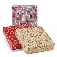 jumbo roll christmas wrapping paper festive collection 3 jumbo rolls christmas wrapping