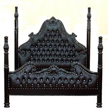 North Shore Canopy King Bed by French Louis Xvi 4 Poster Bed Black U0026 Crystals King Size