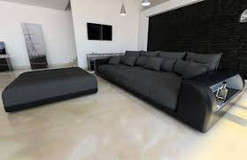 big sofa schwarz big fabric sofa miami with led