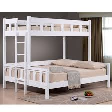 Jewel White Solid Wood Single Over Queen Bunk Bed Lazada Malaysia - Queen single bunk bed
