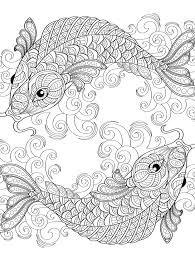 coloring pages about fish yin and yang pieces symbol fish coloring page for adults coloring
