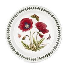 portmeirion botanic garden seconds poppy 8 inch plate set of 6