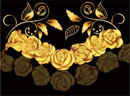 golden roses golden roses in style vector illustration with flowers
