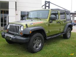 jeep rescue green 2010 jeep wrangler unlimited mountain edition 4x4 in rescue green