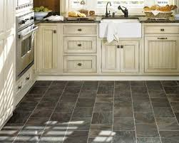 Best Vinyl Flooring For Kitchen Stunning Kitchen Floor Pickled Oak Cabinets Floors Best Black