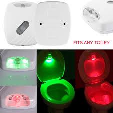 icoco 1pc auto sensing led toilet nightlight motion activated