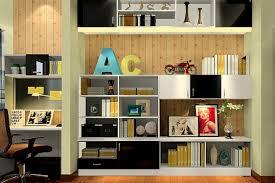 bedroom bookshelves and wood wallpaper interior design