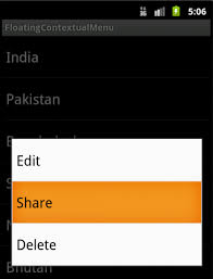 android context creating a floating contextual menu in android knowledge by