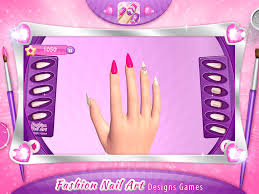 fashion nail art designs game pink nails manicure salon and