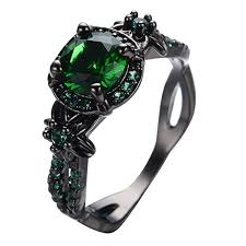green stone rings images Womens green stone round lab stone engagement wedding jpg