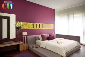 Purple Bedroom Feature Wall - nippon paint malaysia home decor renovation decoration