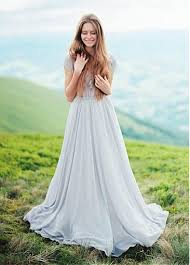 flowing wedding dresses buy discount flowing chiffon v neck a line wedding dresses with