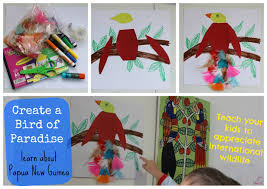 birds of paradise craft learning about papua new guinea