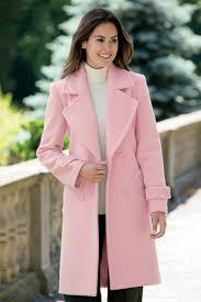 light pink wool coat 3 4 length double breasted wool coat wool coats classic style and