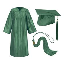 cap and gowns for graduation green graduation cap and gown