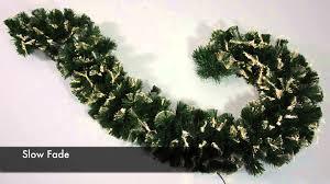 warm led fibre optic christmas garland xs1664 youtube