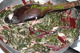 cuisiner des betteraves rouges feuilles de betterave à la crème et chèvre menja i calla