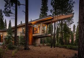 modern cabin like retreat rules the californian landscape home