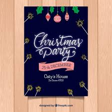 christmas flyer with dark blue background and neon letters vector