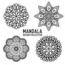 pack of mandala ornaments vector premium