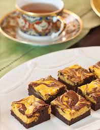pumpkin swirled cheese brownies teatime magazine
