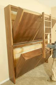 Wood For Building Bunk Beds by How To Build A Side Fold Murphy Bunk Bed Murphy Bunk Beds Bunk