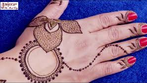 simple jewellery tattoo mehndi design for hands step by step