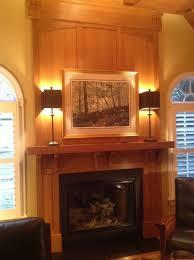 craftsman mantel overmantel and ceiling fine homebuilding
