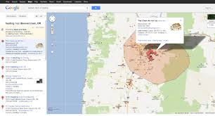 Oregon Google Maps by Google Maps Show Service Area Feature