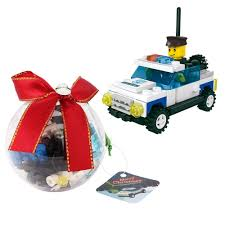 amazon com christmas ornament filled with building brick blocks