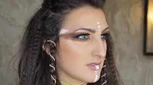 brittany layne tribal warrior halloween makeup tutorial youtube