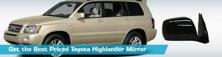 toyota highlander mirror side view mirrors action crash dorman