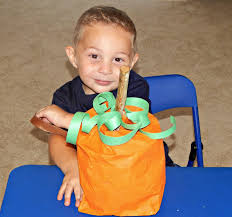 kids pumpkin bag craft this ole mom