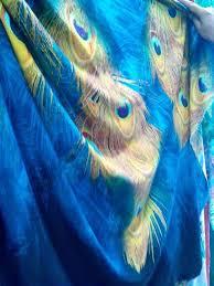 merak biru diskusi produk kain viscose rayon challis motif bulu merak biru