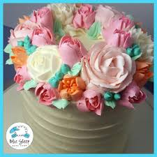 buttercream birthday cake with flowers nj beautiful cake designs