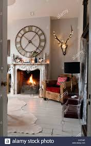 wall clocks wall clock over fireplace large wall clock above