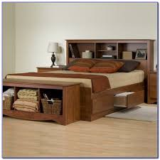big louis queen transitional storage bed with bookcase headboard
