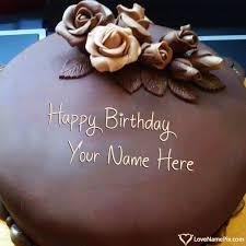 roses chocolate happy birthday cake generator
