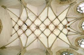 rib vault ceiling with lierne ribs of the liebfrauenkirche